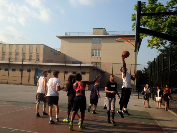 Hitting the court at the annual BXD Interns vs. Staff basketball game!
