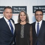 Bronx Defenders Executive Director Robin Steinberg at The Bronx Defenders 2014 Annual Gala with Mark Califano, our 2014 Corporate Honorree (left) and Debo Adegbile, our 2014 Partner in the Pursuit of Justice (right)