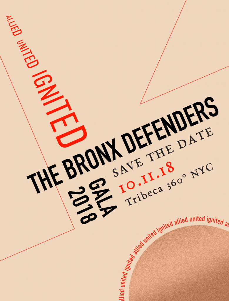 Save The Date for The Bronx Defenders' 2018 Gala on October 11