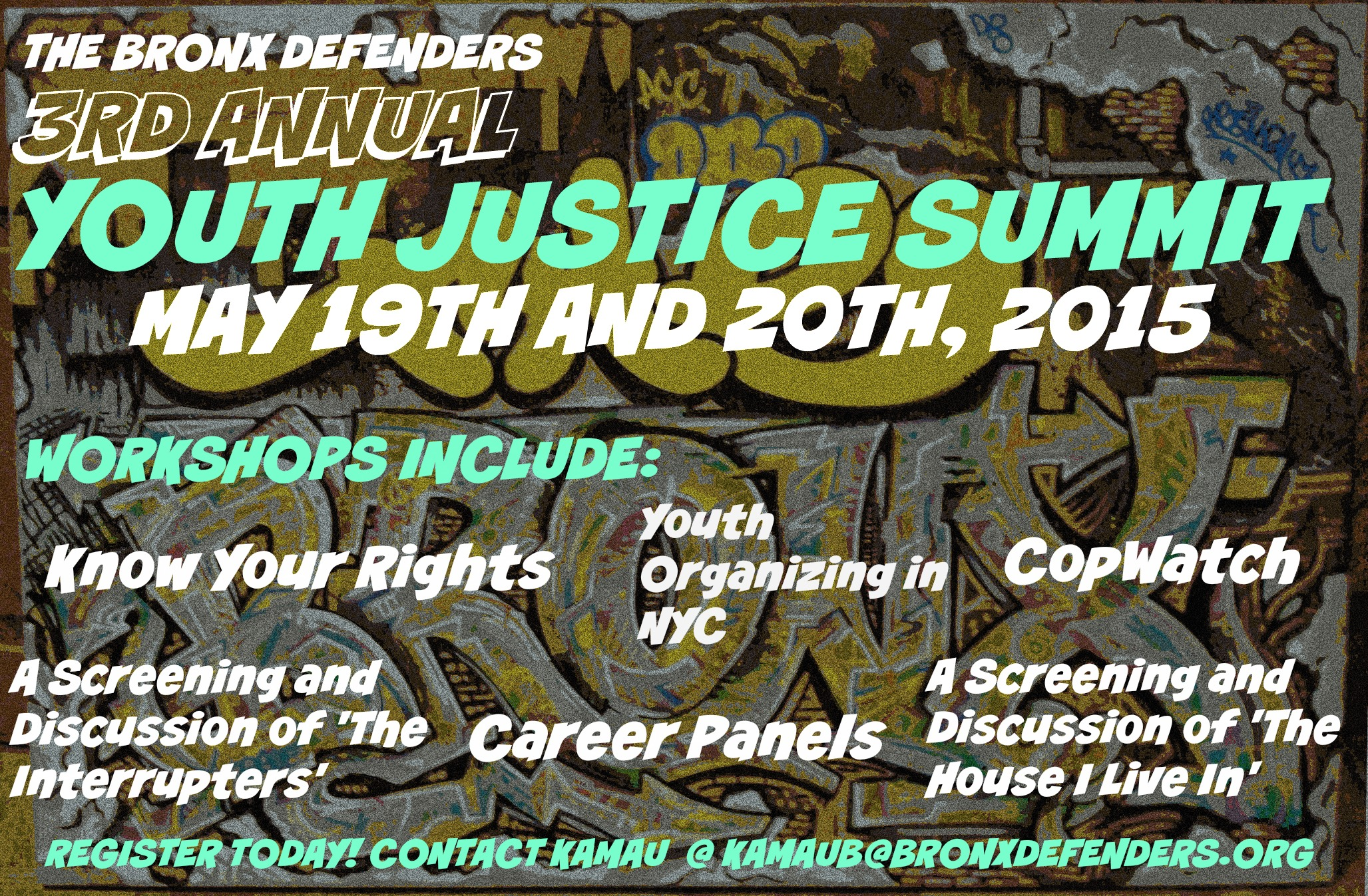 BxD's Annual Youth Justice Summit coming up on May 19 and 20