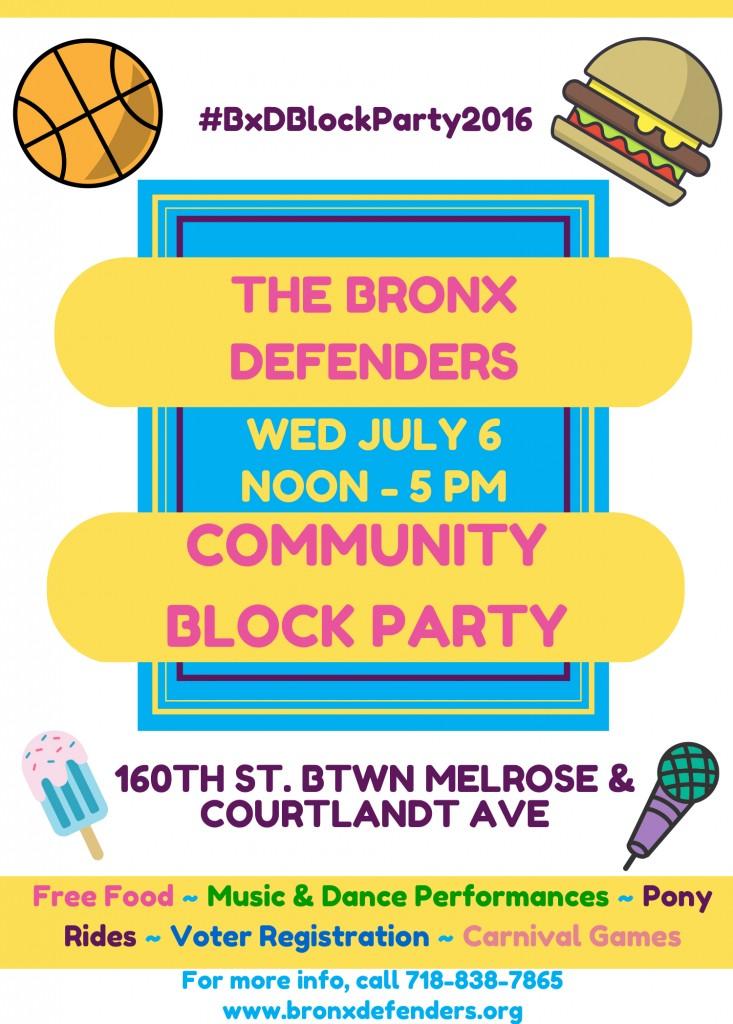 Block Party Flyer 2016